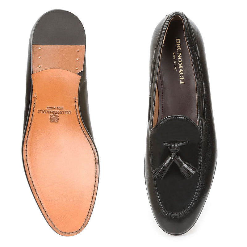 Ali Tassel Loafer - Black Leather - FINAL SALE