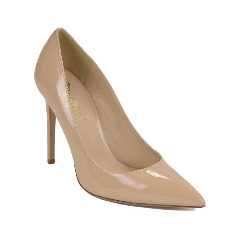 Allegra Patent Pump, 4-inch - FINAL SALE - Nude Patent Leather