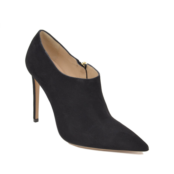 Alma Suede Ankle Boot, 4-inch - FINAL SALE - Black Suede