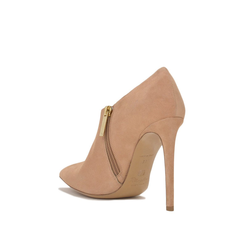 Alma Suede Ankle Boot, 4-inch - FINAL SALE - Nude Suede