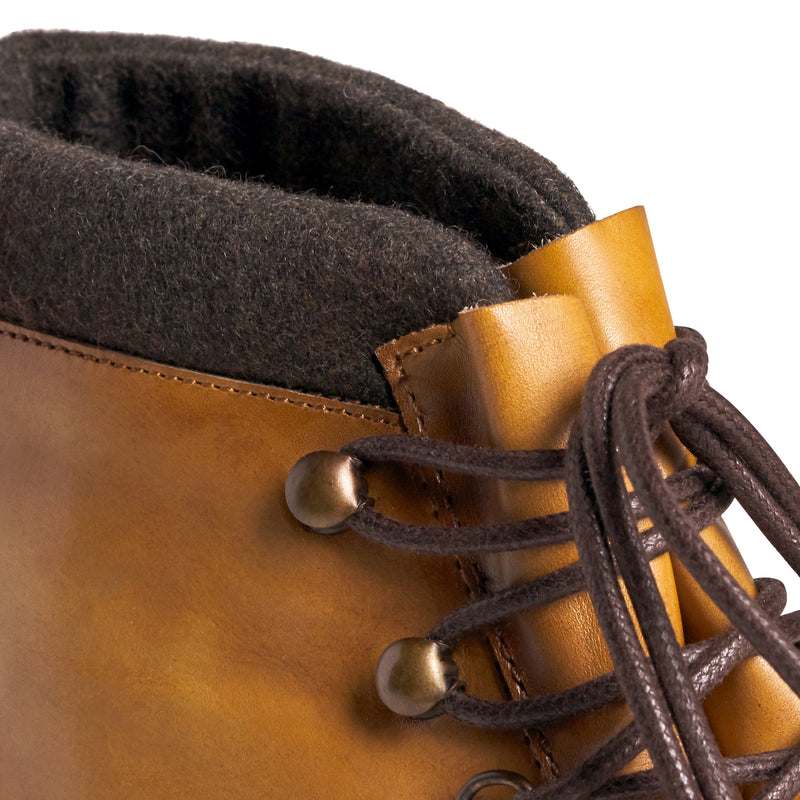 Alpino Leather Hiking Boot - Cognac