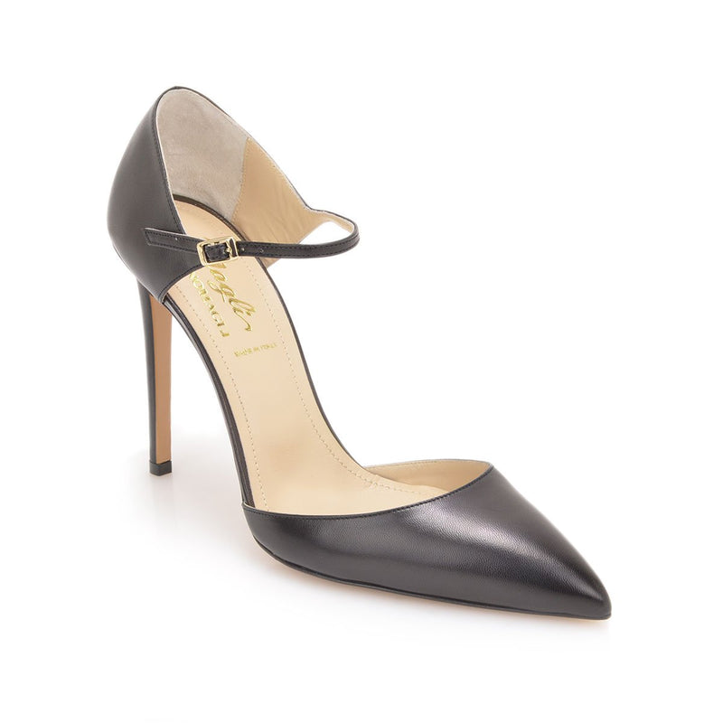 Amalia Pump, 4-inch - Black Leather - FINAL SALE