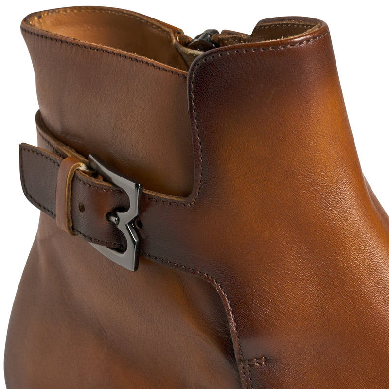 Angiolini Leather Dress Boot - Cognac