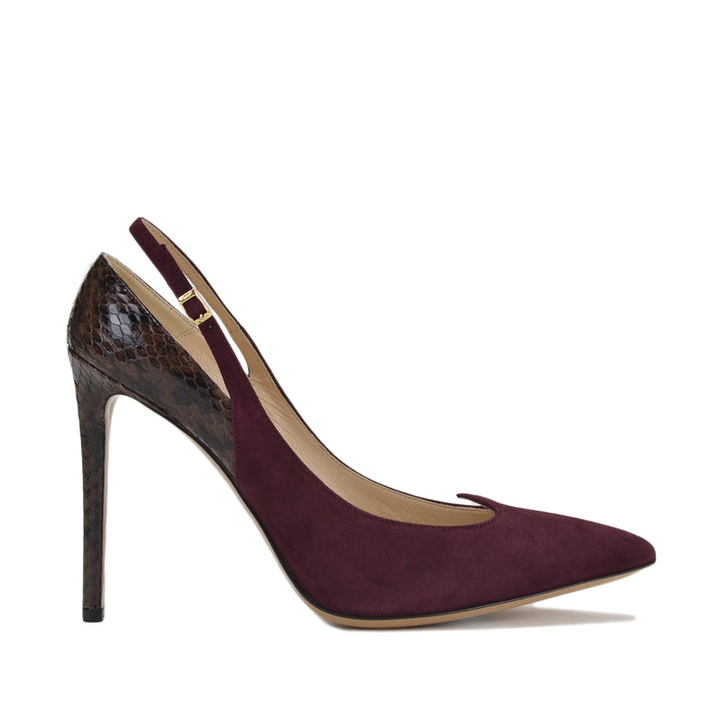 "Anna Women's Slingback 4"" Heels - Bordo - FINAL SALE"