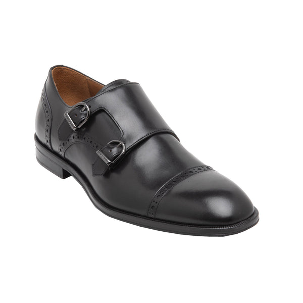 Anzio Monk-Strap Shoe - Black