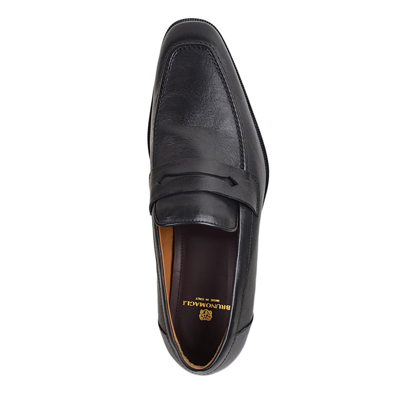 Arco Penny Loafer - Black Leather