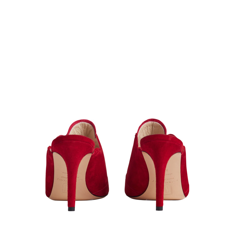 Aria Women's Mule Pump - Red Suede