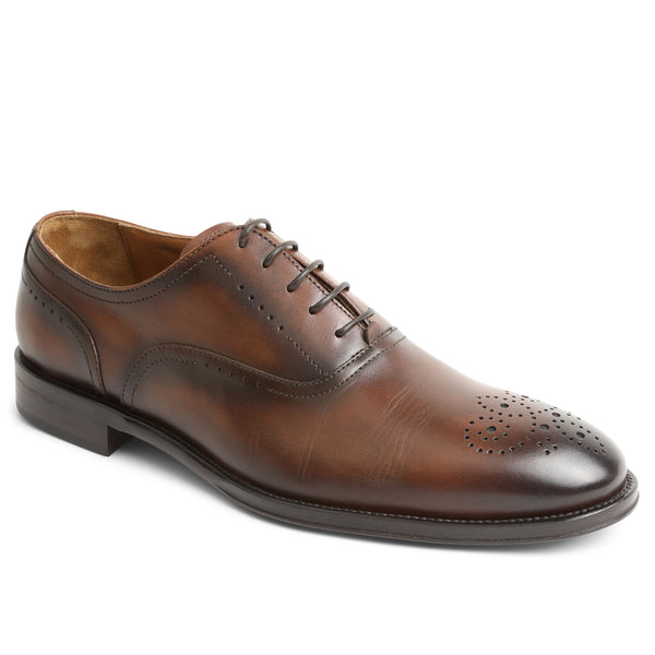 Arno Plain-Toe Balmoral Oxford - Cognac