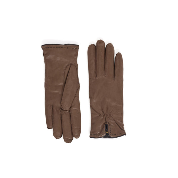 Aosta Women's  Leather Winter Gloves - Light Brown - FINAL SALE