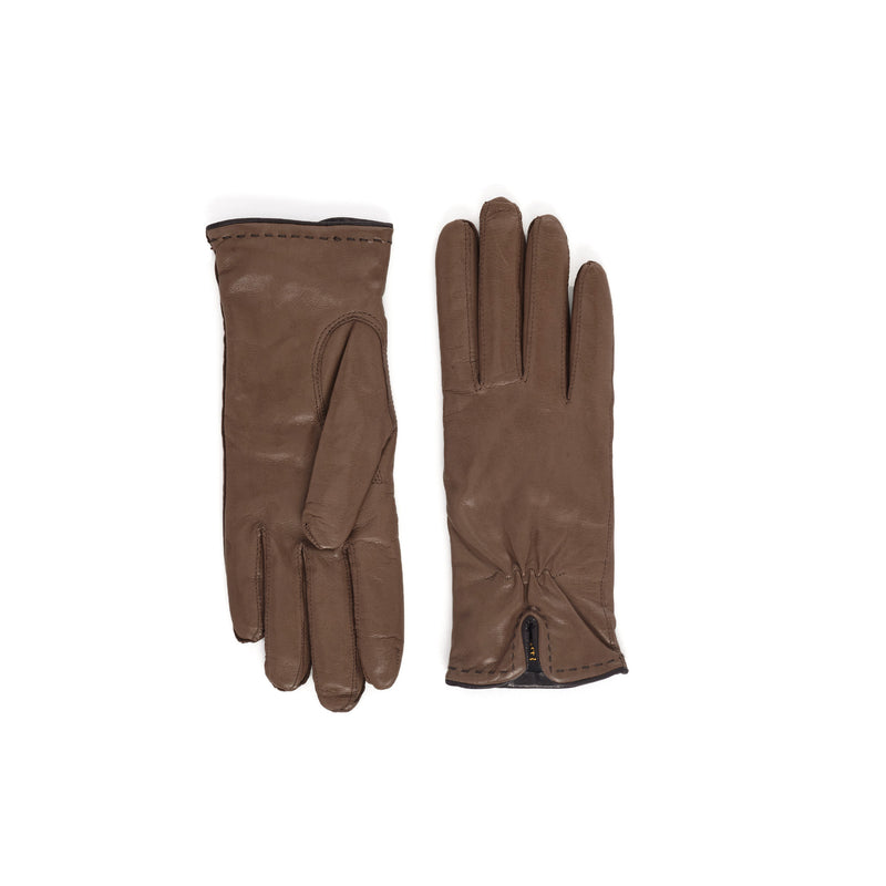 Aosta Women's  Leather Winter Gloves - Light Brown