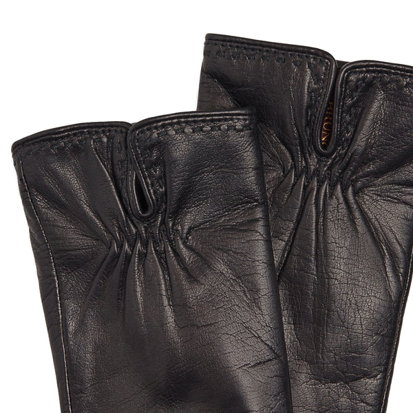 Aosta Women's  Leather Winter Gloves - Black