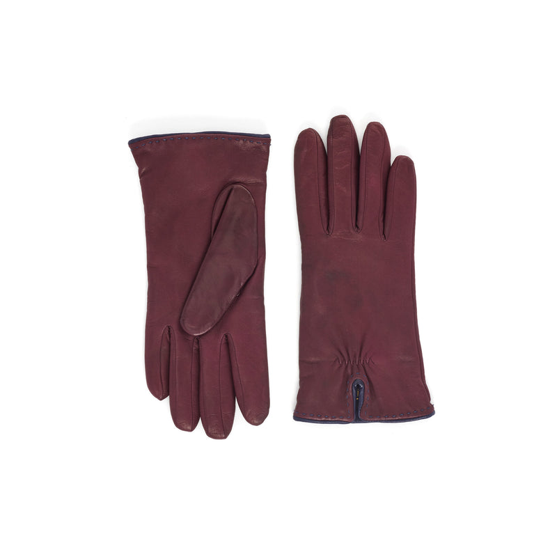 Aosta Women's  Leather Winter Gloves - Red