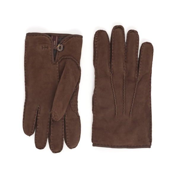 Lazio Suede Men's Winter Gloves - Cognac/Brown