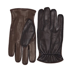 Liguria Two-Tone Leather Men's Winter Gloves - Black/Brown