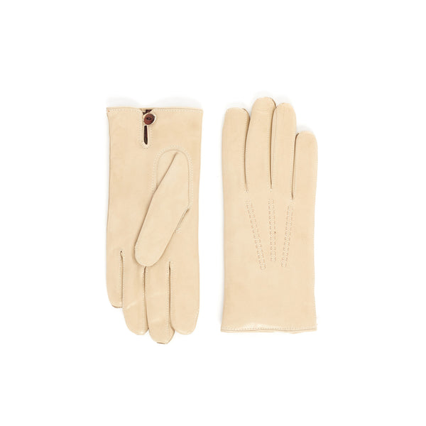 Abruzzo Women's Leather Winter Gloves - Cream - FINAL SALE
