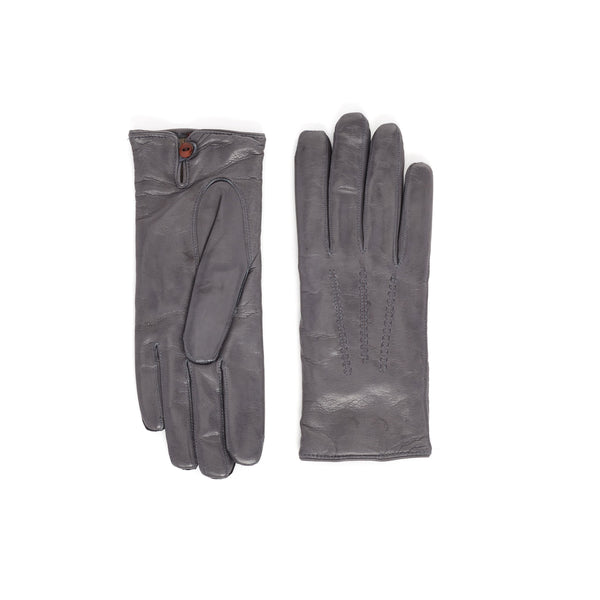 Abruzzo Women's Leather Winter Gloves - Grey - FINAL SALE