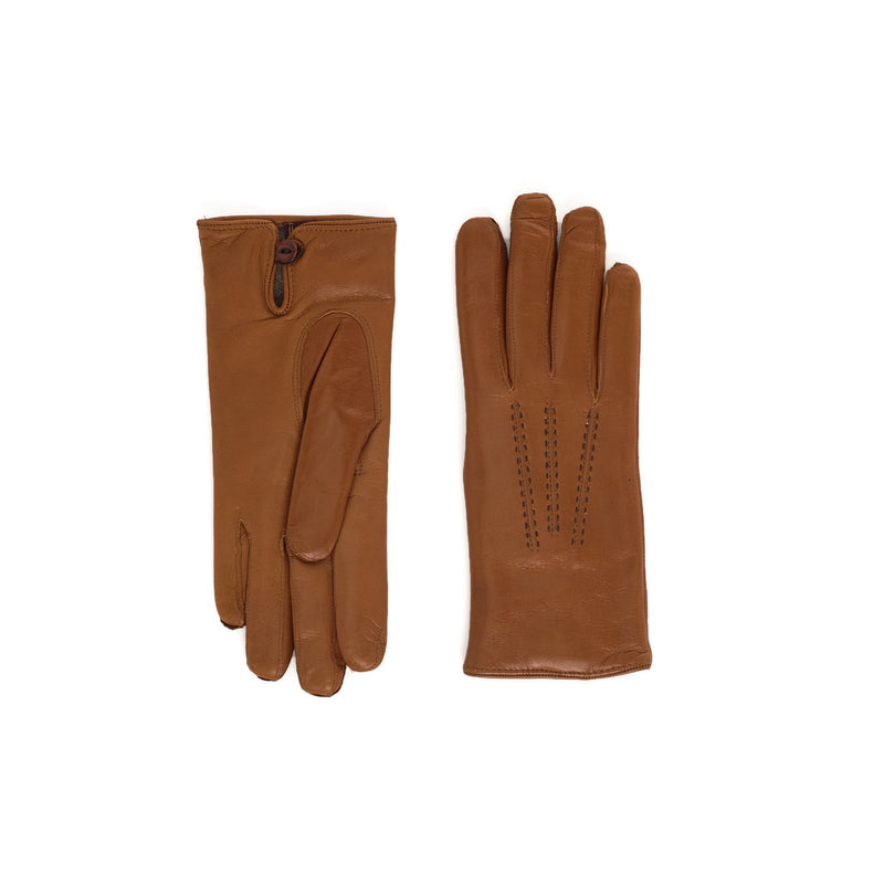 Abruzzo Women's Leather Winter Gloves - Camel