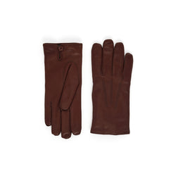 Abruzzo Women's Leather Winter Gloves - Cognac - FINAL SALE