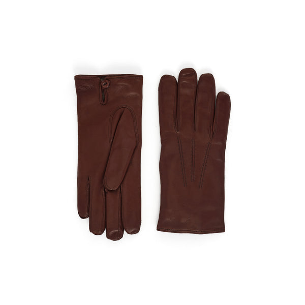 Abruzzo Women's Leather Winter Gloves - Cognac