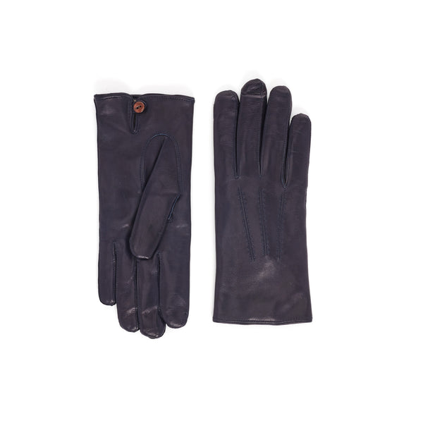 Abruzzo Women's Leather Winter Gloves - Blue