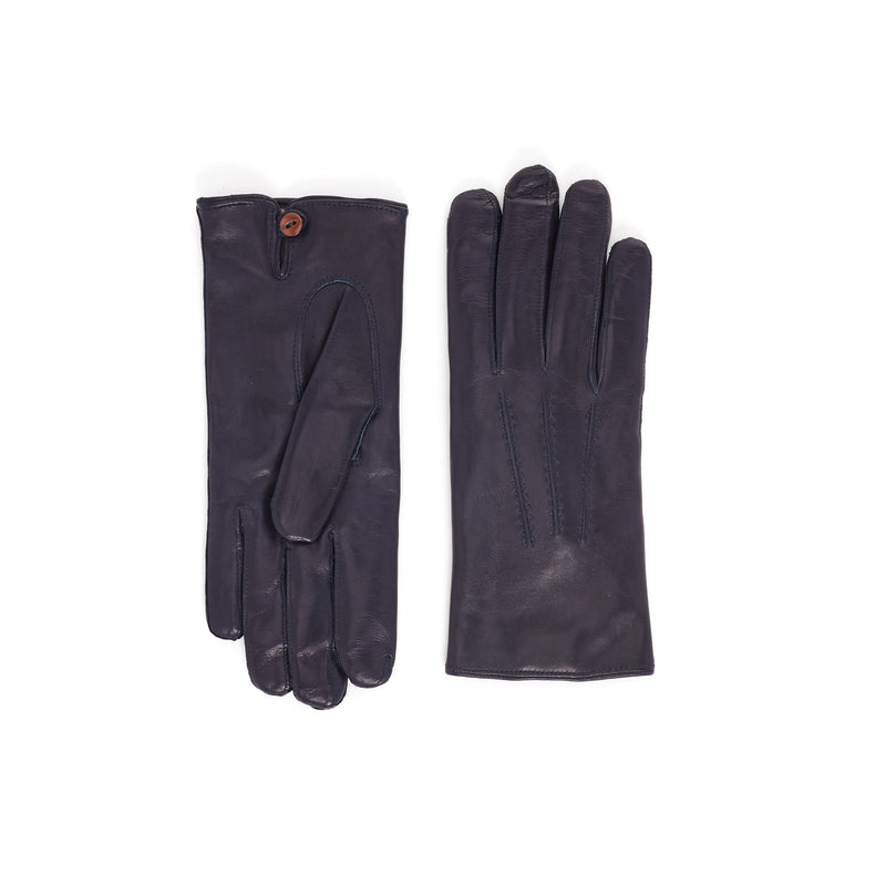 Abruzzo Women's Leather Winter Gloves - Blue - FINAL SALE