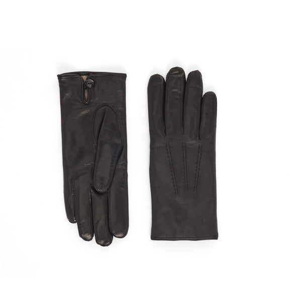 Abruzzo Women's Leather Winter Gloves - Black