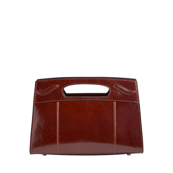 Carrinna Satchel - Whiskey Leather