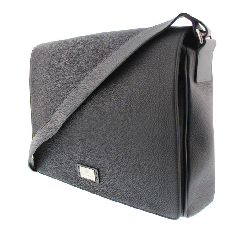 Bicolor Messenger Bag - Black