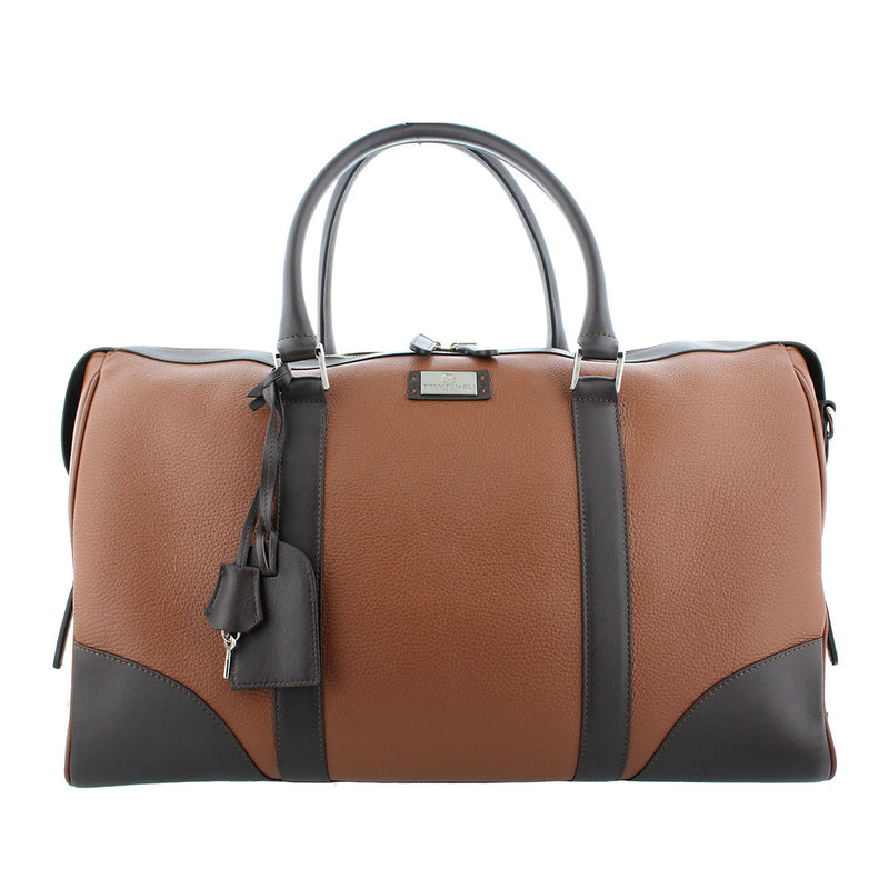 Bicolor Duffel Bag - Brown