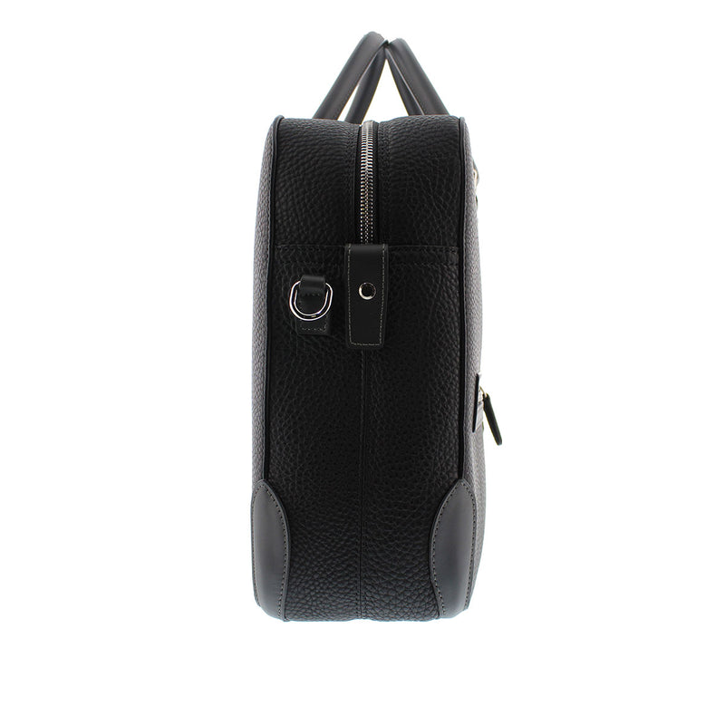 Bicolor Briefcase/Computer Bag - Black
