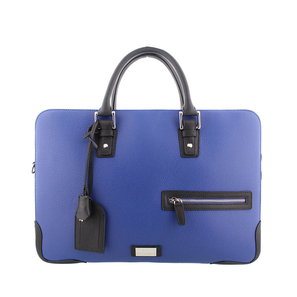 Bicolor Briefcase/Computer Bag - Royal Blue