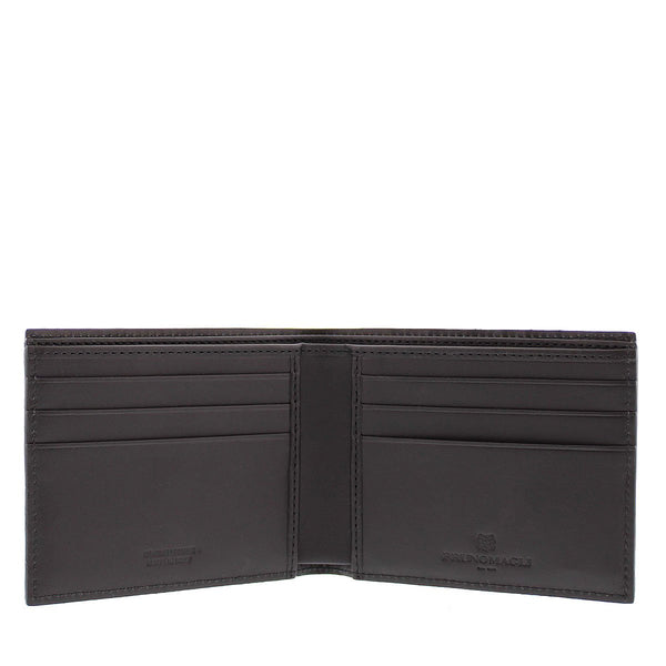 Crocodile-Print Wallet - Brown