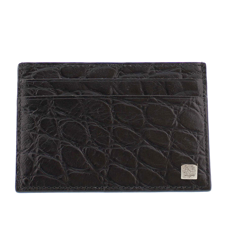 Crocodile-Print Card Case