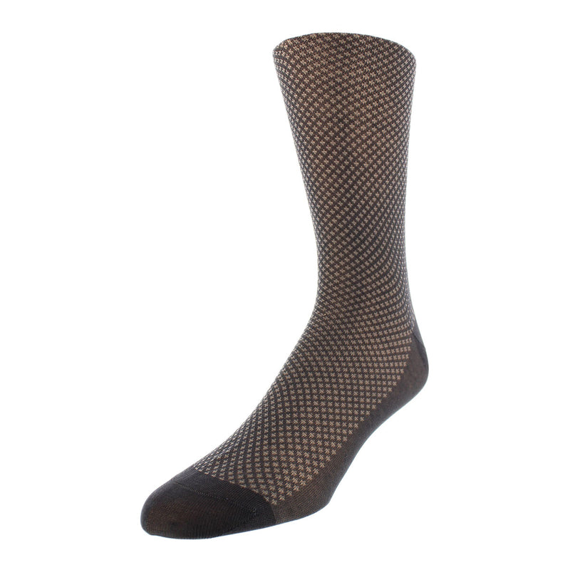 Bird's-eye Pattern Dress Socks - Grey