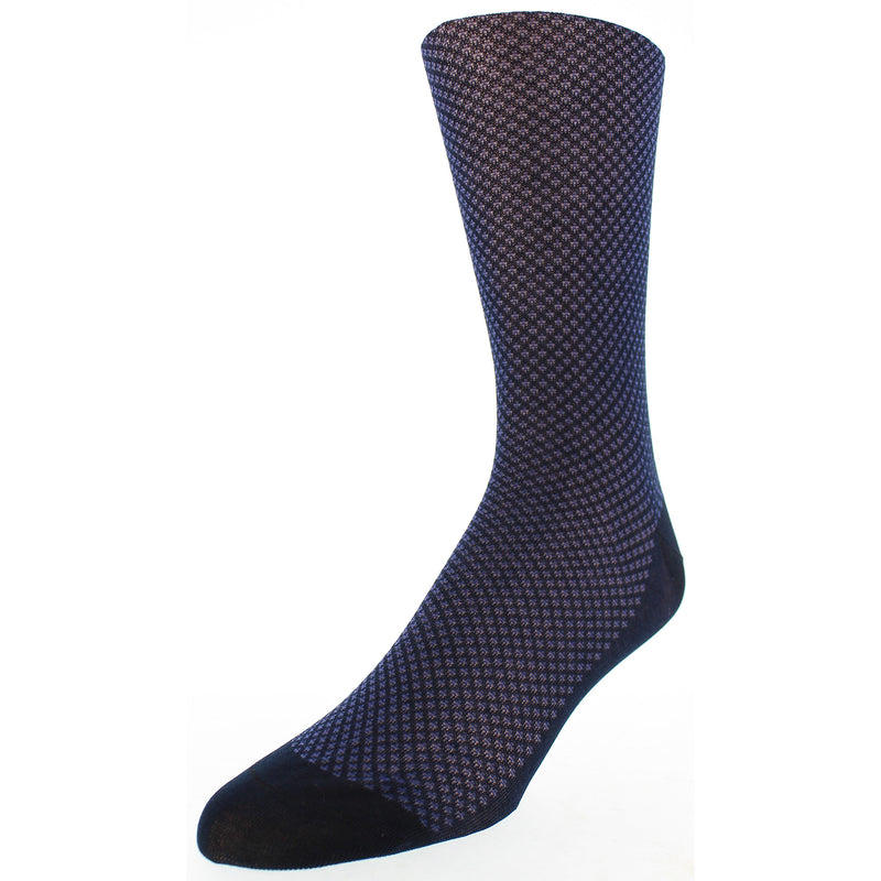 Men's Bird's Eye Patterned Graphic Dress Socks - Navy