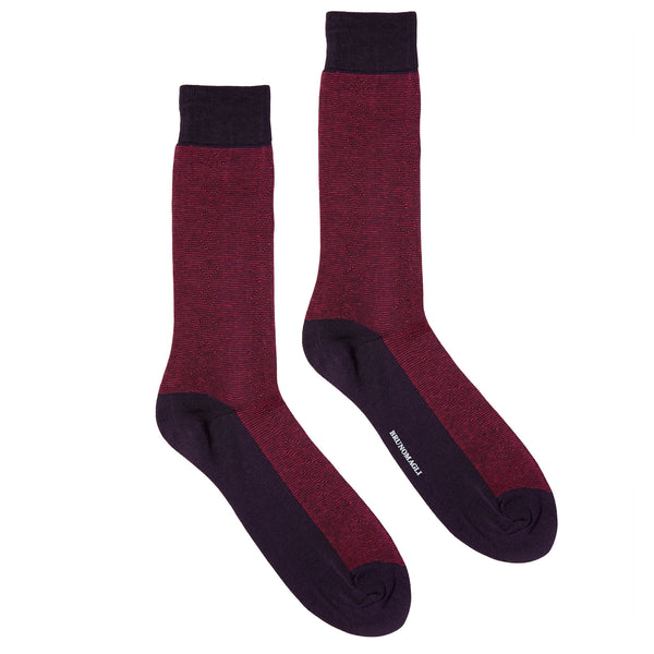 Men's Striped Graphic Dress Socks - Pink