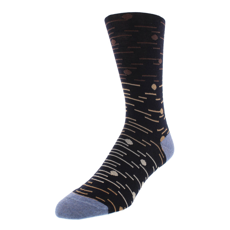 Men's Dot and Line Print Graphic Dress Socks - Navy