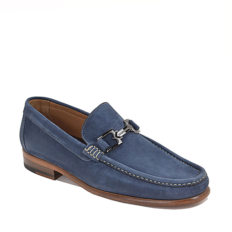 Bigolo Nubuck Bit Loafer - Blue Nubuck - FINAL SALE