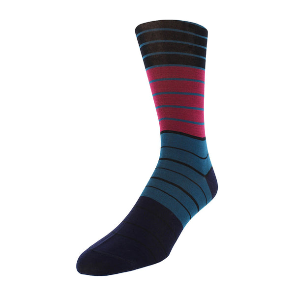 Wide Striped Dress Socks