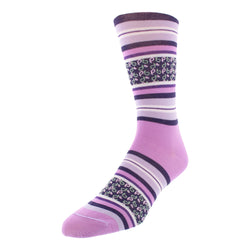 Men's Striped Graphic Dress Socks - Violet