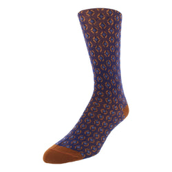 Patterned Graphic Men's Dress Socks - Blue