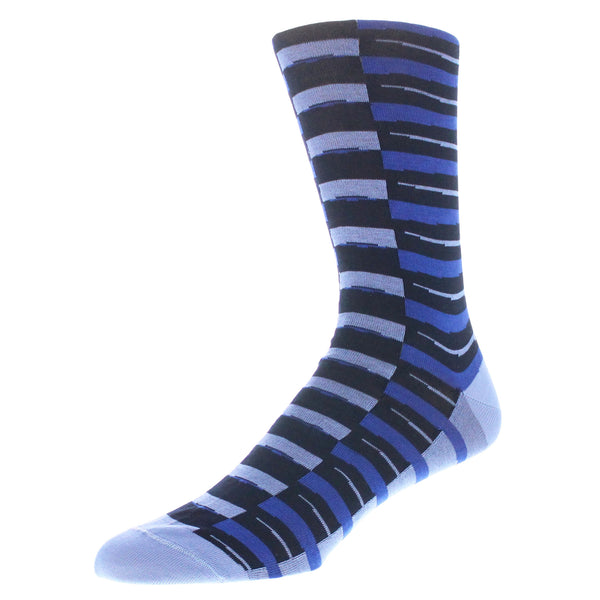 Striped Dress Socks - Blue
