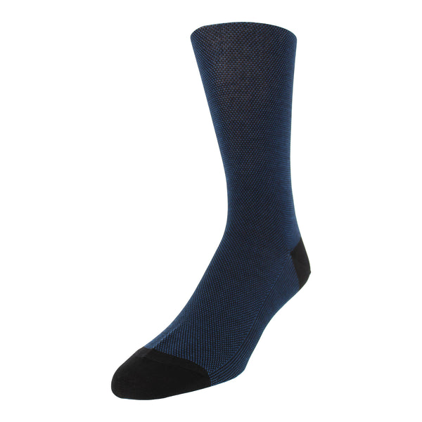 Micro Dot Patterned Men's Dress Socks - Black