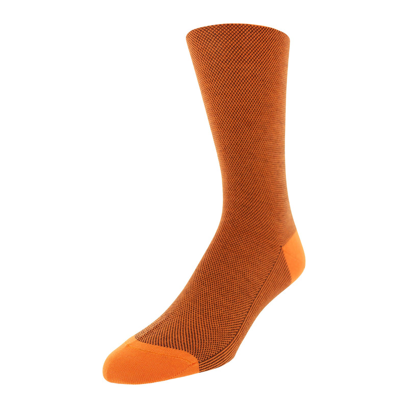 Micro Dot Patterned Men's Dress Socks - Orange