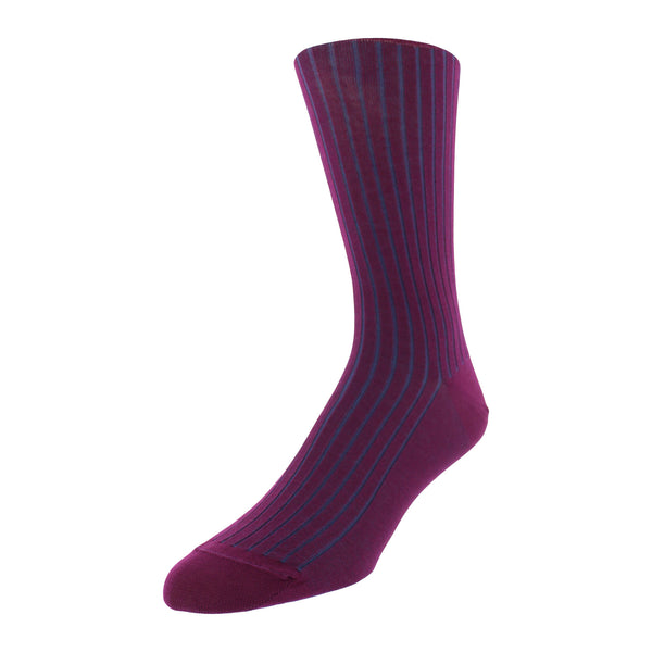 Patterned Dress Socks - Purple