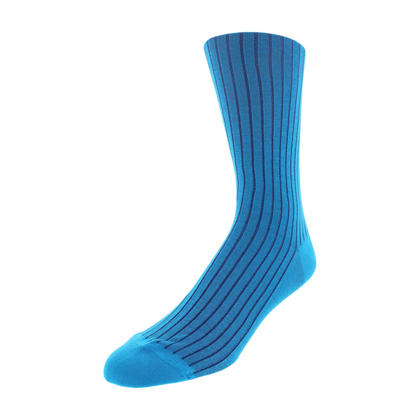 Patterned Dress Socks - Turquoise