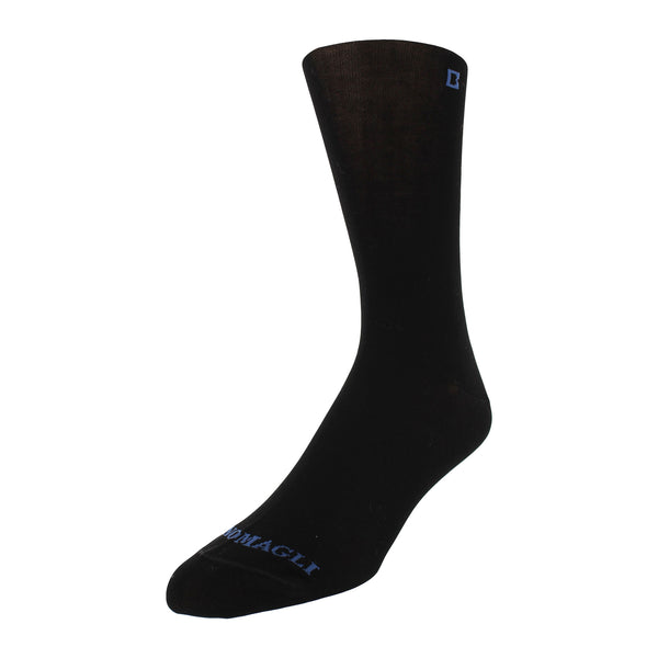 Solid Men's Dress Socks - Black - FINAL SALE