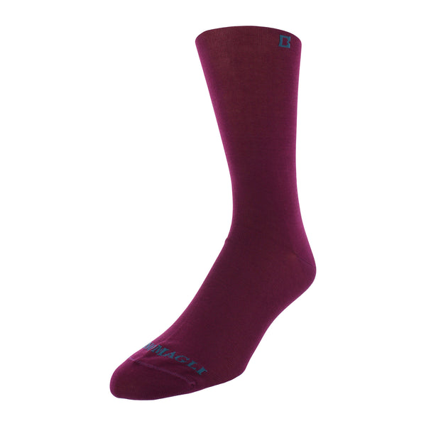 Solid Men's Dress Socks - Purple - FINAL SALE