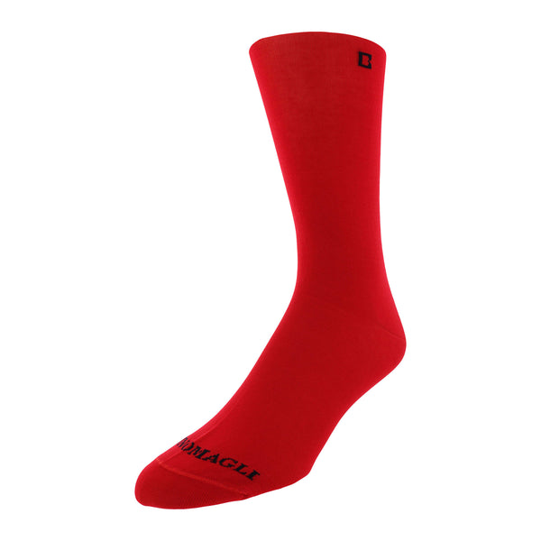 Solid Men's Dress Socks - Red - FINAL SALE