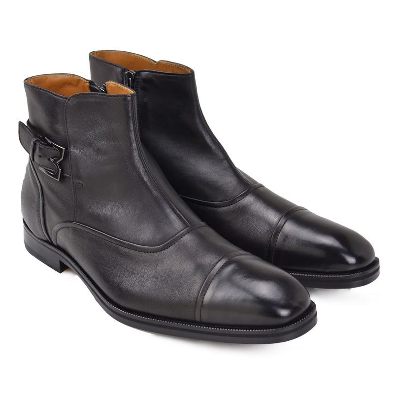 Arcadia Leather Boot - Black Leather